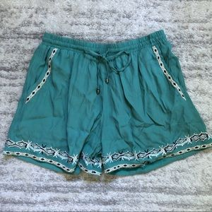 Anthropologie Hei Hei Embroidered Shorts